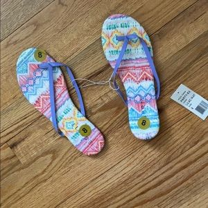 NWT Colorful Flip Flops